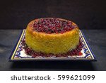 traditional iranian rice pie... | Shutterstock . vector #599621099