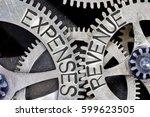 macro photo of tooth wheel... | Shutterstock . vector #599623505