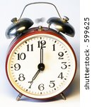 old fashioned alarm clock is... | Shutterstock . vector #599625