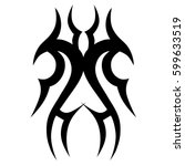 vector tribal tattoo designs.... | Shutterstock .eps vector #599633519
