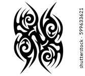 vector tribal tattoo designs.... | Shutterstock .eps vector #599633621