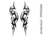 vector tribal tattoo designs.... | Shutterstock .eps vector #599633681
