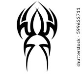 tattoo tribal vector designs... | Shutterstock .eps vector #599633711