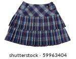 plaid feminine skirt insulated... | Shutterstock . vector #59963404