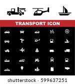 transportation icons set.  | Shutterstock .eps vector #599637251