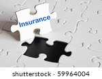 insurance concept with white... | Shutterstock . vector #59964004