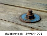 Rust Bolt In The Wooden Surface ...