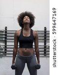 young beautiful african... | Shutterstock . vector #599647169