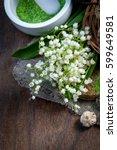 spa background. shallow dof | Shutterstock . vector #599649581