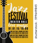 template poster for jazz... | Shutterstock .eps vector #599649845