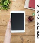 e book or e reader mockup   Shutterstock . vector #599651255