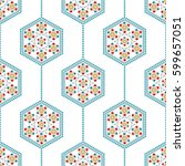 seamless pattern of islamic...   Shutterstock .eps vector #599657051