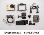 action camera | Shutterstock . vector #599659955