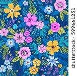 amazing seamless floral pattern ... | Shutterstock .eps vector #599661251
