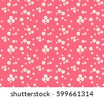 floral pattern. pretty flowers... | Shutterstock .eps vector #599661314