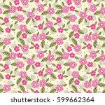 vector seamless pattern. cute... | Shutterstock .eps vector #599662364