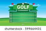 vector of golf tournament with... | Shutterstock .eps vector #599664431