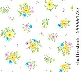 vector seamless pattern. cute... | Shutterstock .eps vector #599664737