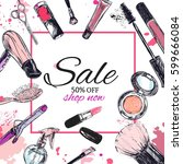 beauty store background with... | Shutterstock .eps vector #599666084
