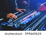 blurred background of party dj... | Shutterstock . vector #599669624