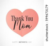 mother's day minimal greeting... | Shutterstock .eps vector #599673179