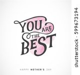 mother's day minimal greeting... | Shutterstock .eps vector #599673194