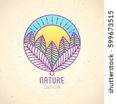 vector logo of nature elements... | Shutterstock .eps vector #599673515