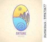 vector logo of nature on... | Shutterstock .eps vector #599673677