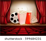 cinema background with a film... | Shutterstock .eps vector #599684231