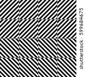 vector seamless pattern.... | Shutterstock .eps vector #599684675