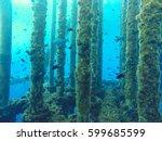 oil and gas wellhead platform ... | Shutterstock . vector #599685599