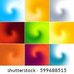 set of swirl shape backgrounds...   Shutterstock .eps vector #599688515