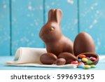 delicious seasonal chocolate... | Shutterstock . vector #599693195