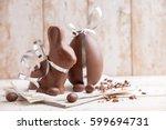 delicious seasonal chocolate... | Shutterstock . vector #599694731