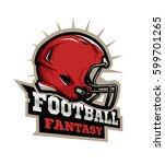 american football modern logo.... | Shutterstock .eps vector #599701265