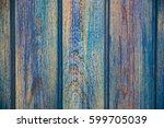 blue wood background | Shutterstock . vector #599705039