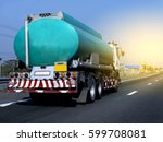 gas truck on road | Shutterstock . vector #599708081