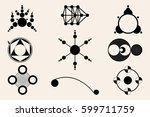 crop circles  crop circles ... | Shutterstock .eps vector #599711759