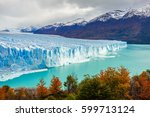 the perito moreno glacier is a... | Shutterstock . vector #599713124