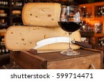cheese and wine | Shutterstock . vector #599714471