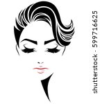 illustration of women short... | Shutterstock .eps vector #599716625