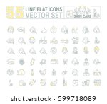 vector graphic set.icons in... | Shutterstock .eps vector #599718089