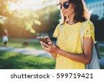 closeup shot of young beautiful ... | Shutterstock . vector #599719421