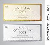 elegant gift voucher or gift... | Shutterstock .eps vector #599721641