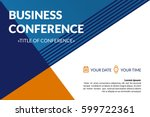 business conference invitation... | Shutterstock .eps vector #599722361