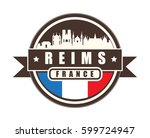 symbol  french city  with...   Shutterstock .eps vector #599724947