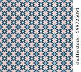seamless vector decorative hand ... | Shutterstock .eps vector #599725091