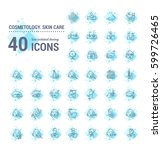 vector graphic set.icons in... | Shutterstock .eps vector #599726465