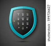 shield with electronic... | Shutterstock .eps vector #599726627