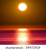 big sun setting | Shutterstock . vector #59972929